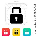 padlock close icon. vector...
