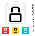 close padlock icon. vector...