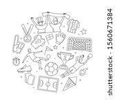 soccer football world... | Shutterstock .eps vector #1560671384