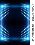 abstract blue dark background.... | Shutterstock . vector #1560675974
