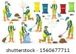 volunteer team of young people... | Shutterstock .eps vector #1560677711