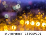 abstract background light, blue and yellow blur cheese balls of different diameters - stock photo