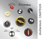 Vintage Knobs Dials And Button...