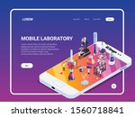 science isometric landing page...