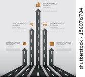 street road   sign infographics ...   Shutterstock .eps vector #156076784