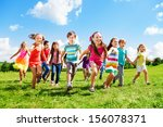 many different kids  boys and... | Shutterstock . vector #156078371