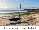 Boats On Dry Land At Low Tide...