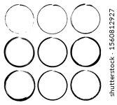 grunge circle brush ink frames... | Shutterstock .eps vector #1560812927