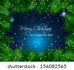 elegant christmas themed frame... | Shutterstock .eps vector #156082565