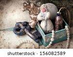 nostalgic christmas decoration... | Shutterstock . vector #156082589
