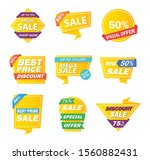 sale tag collection. special... | Shutterstock .eps vector #1560882431