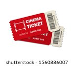 two ticket of cinema for movie. ... | Shutterstock .eps vector #1560886007