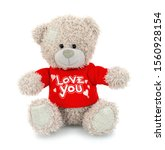 Cute Bear Doll With Red Love...