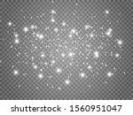 white sparks and golden stars...   Shutterstock .eps vector #1560951047