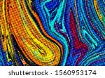 abstract pop dots psychedelic... | Shutterstock . vector #1560953174