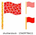 waving flag composition of...