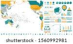 pacific ocean map and... | Shutterstock .eps vector #1560992981