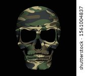 camouflage skull illustration ... | Shutterstock .eps vector #1561004837