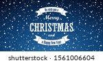 christmas blue background.... | Shutterstock .eps vector #1561006604