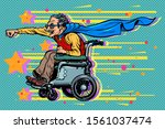 active wheelchair user disabled ... | Shutterstock .eps vector #1561037474