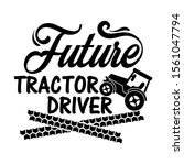 future tractor driver vector... | Shutterstock .eps vector #1561047794