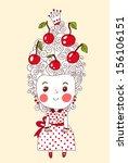princess cherry   Shutterstock .eps vector #156106151