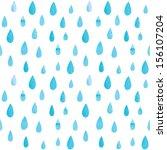 seamless watercolor rain...   Shutterstock .eps vector #156107204