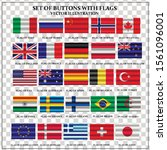 set of banners with flags.... | Shutterstock .eps vector #1561096001