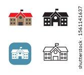 school vector illustration with ... | Shutterstock .eps vector #1561141637