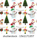 seamless background design with ... | Shutterstock .eps vector #1561171357