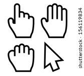 hand cursors vector   Shutterstock .eps vector #156119834
