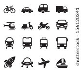 transport icons | Shutterstock . vector #156120341