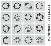 vector black refresh icons set | Shutterstock .eps vector #156121631