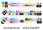 color mixing scheme or color... | Shutterstock .eps vector #1561236487