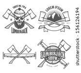 set of vintage lumberjack...   Shutterstock .eps vector #156126194