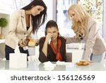 young female office workers... | Shutterstock . vector #156126569