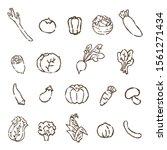 a set of hand drawn cute... | Shutterstock .eps vector #1561271434