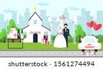 wedding ceremony vector... | Shutterstock .eps vector #1561274494