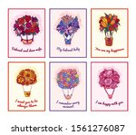 flowering bouquets set concept... | Shutterstock .eps vector #1561276087