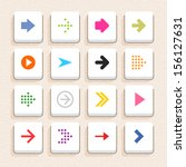 16 arrow sign icon set 01 ...
