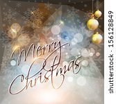 merry christmas card or... | Shutterstock . vector #156128849