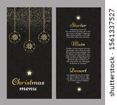 christmas menu with an elegant... | Shutterstock .eps vector #1561337527