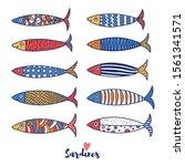 cute fish.sardines.  kids... | Shutterstock .eps vector #1561341571