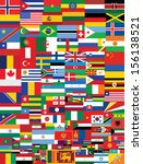 world flags background vector... | Shutterstock .eps vector #156138521