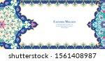 eastern ethnic motif ... | Shutterstock .eps vector #1561408987