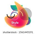 graphic modern element template ...   Shutterstock .eps vector #1561445191