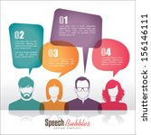 group of people with speech... | Shutterstock .eps vector #156146111