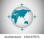 airplanes around the world | Shutterstock .eps vector #156147071