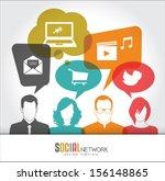 Social Media Icons In Speech...