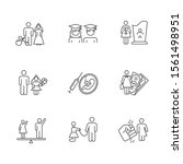 gender equality linear icons... | Shutterstock .eps vector #1561498951
